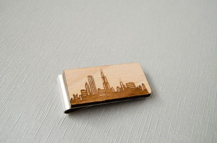 Chicago Money Clip, city skyline