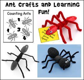 Ant ремесла и учебная деятельность для детей от www.daniellesplace.com
