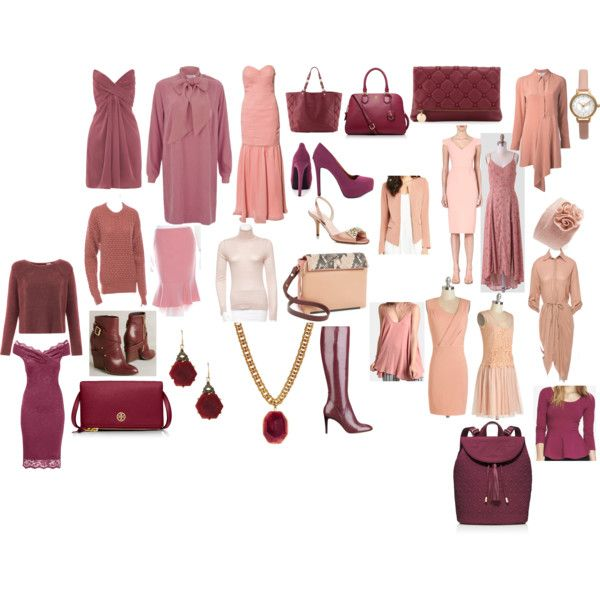 Soft Autumn Berries and Pinks by carol-bradshaw on Polyvore featuring See by Chloé, NLY Eve, STELLA McCARTNEY, Lipstick Boutique, Alice + Olivia, Roland Mouret, Calvin Klein Collection, Yumi, Cédric Charlier and Express