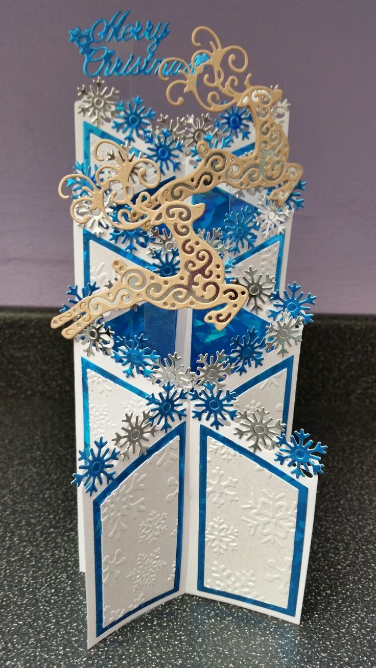 Christmas Card made using Tattered Lace Dies.