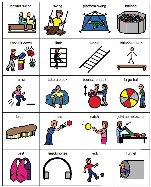 Living Well With Autism - occupational therapy and sensory integration picture cards