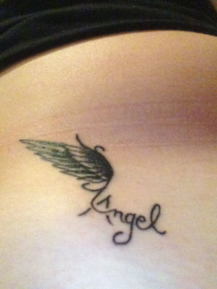 A wing tattoo for my guardian angels and in honor of all the amazing people I have had in my life that have passed away who are now angels