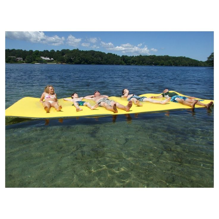 Chill Lake And Pool 18' Drifter Floating Island, Yellow