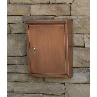 Home Depot Wall Mount Mailbox architectural mailboxes - laguna locking wall mount mailbox