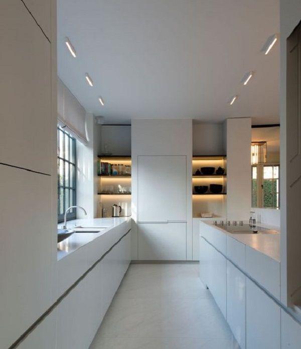 Tipos de cocinas en paralelo con isla cocinas pinterest for Cocinas en paralelo