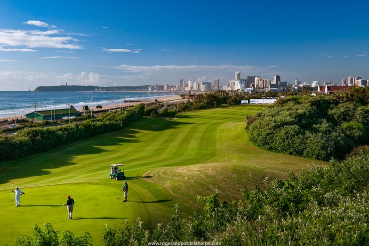 The Durban Country Club #GolfCourse with the city in the background. See more of our work at http://www.rogerandpatdelaharpe.com. #golf #KwaZuluNatal #SouthAfrica