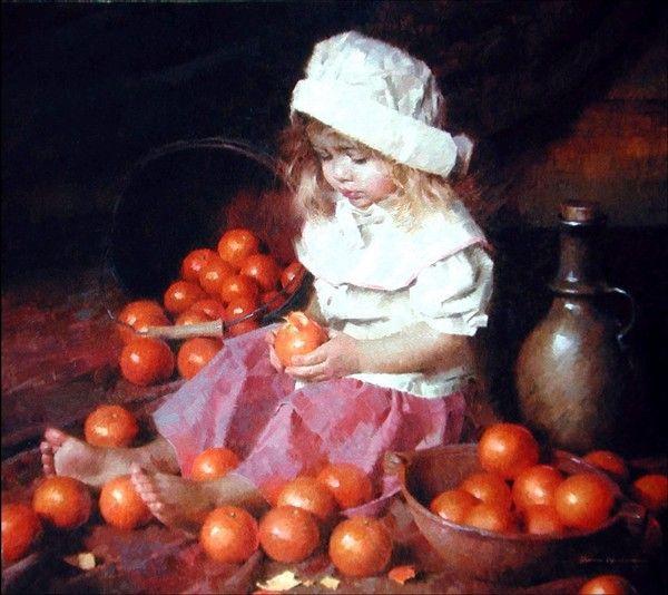 девочка с мандаринами. Морган Вестлинг (600x534, 275Kb)