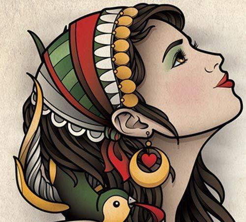 10 attraktive Zigeuner-Tattoo-Designs – Jenny Leach – #attraktive #Jenny #Leach …