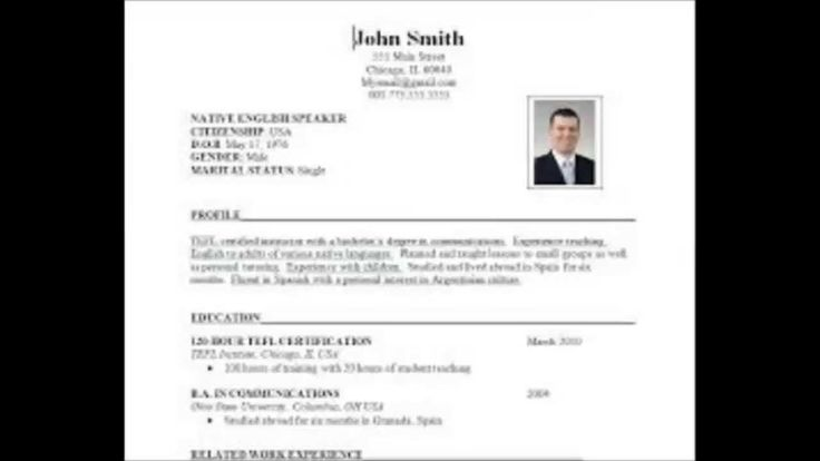 How To Prepare Resume Format For Experienced,fresher,students