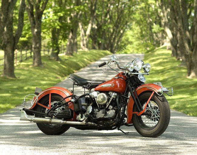 Classic Motorcycle Photograph - Harley Davidson Knucklehead. $30.00, via Etsy.