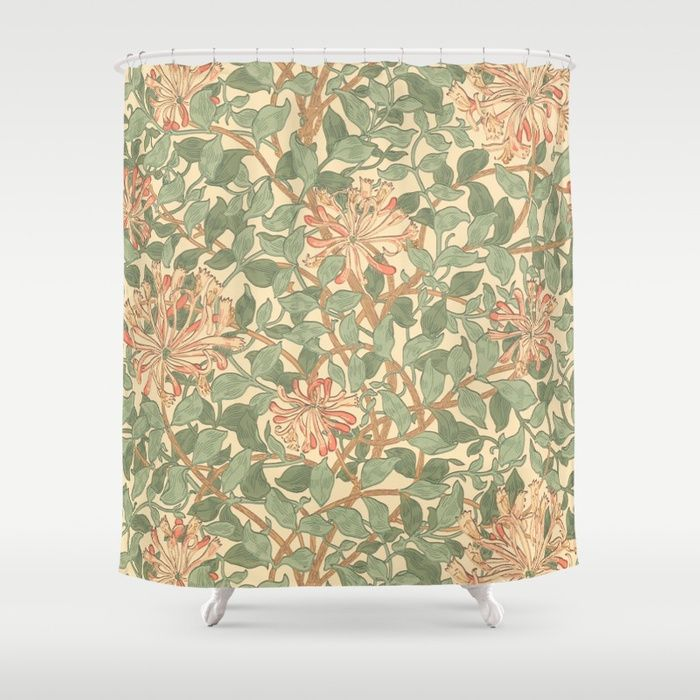 Buy William Morris Honeysuckle Shower Curtain By Ralley Worldwide