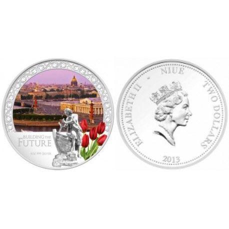 Стрелка Васильевского острова на монета Ниуэ