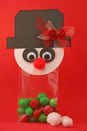 Sneeuwpop Showman party favor With tutorial Christmas idea Winter favor