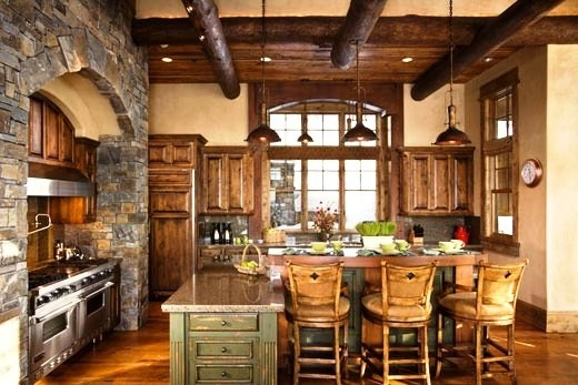 Great rustic kitchen design warm and inviting mountain Rustic tuscan house plans