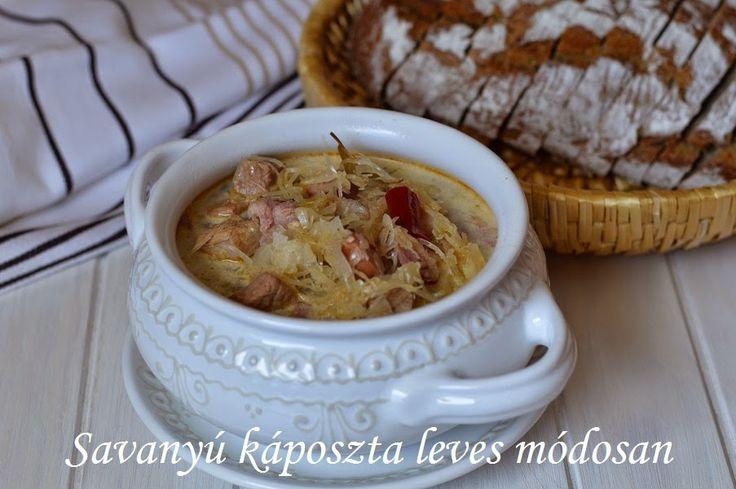 Savanyú káposzta leves módosan