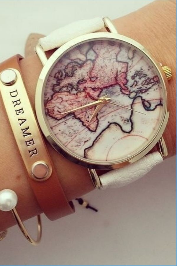 Vintage world map watch⌚️