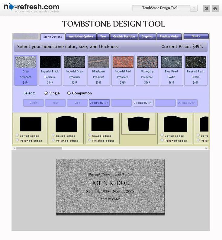 #Gravestone / #Tombstone #Design #Tool To Create #Memorial Grave Markers