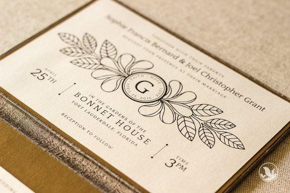 Sample Silk Folio Keepsake And Invitation Set Sophie Fl Monogram Wedding