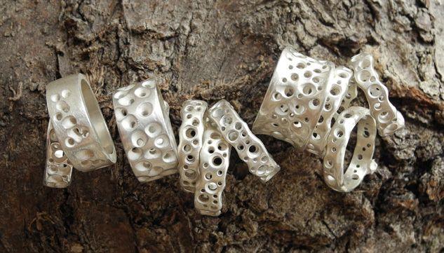 Coastal Erosion rings - sterling silver - www.annbrufordjewellery.com