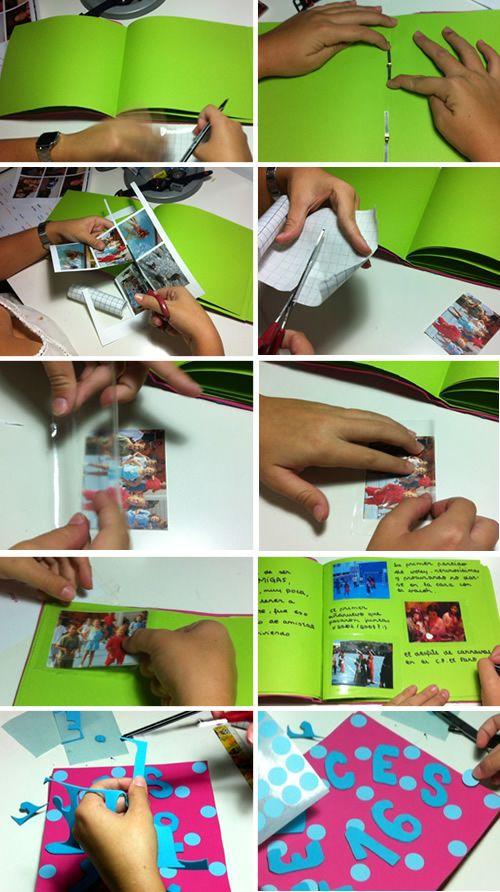 Dibujos para Colorear: Cómo hacer un álbum de fotos casero