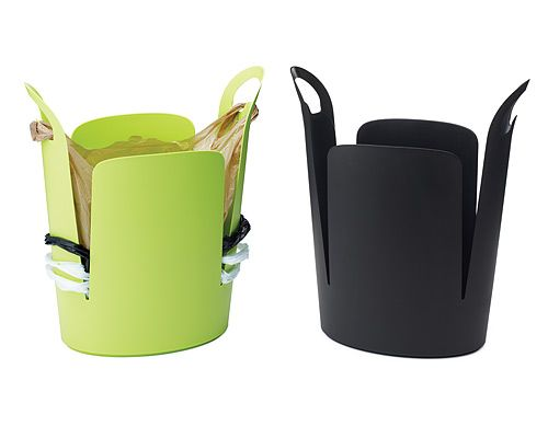 Grocery Store Bag Trash Cans--Who doesn't reuse their plasic store bags? Great idea.: Plastic Bag Holders, Plastic Bags, Clever Trash, Trash Bags, Bag Trash, Products