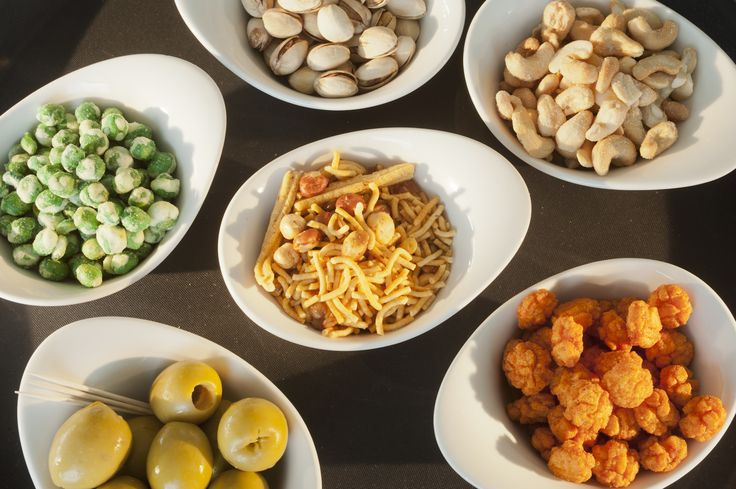 The Beach Deck On The Side: roasted peanuts & cashews, wasabi peas, chilli rice crackers, bombay mix.           2.00 each