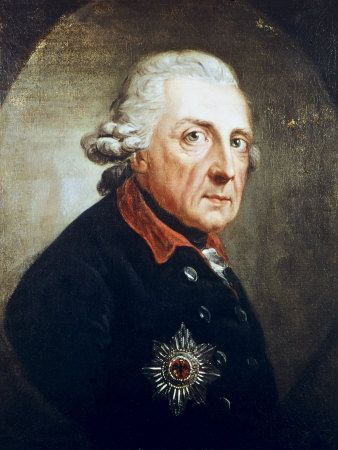 Frederick II was King in Prussia of the Hohenzollern dynasty. He is best known for his brilliance in military campaigning and organization of Prussian armies. He became known as Frederick the Great and was nicknamed Der Alte Fritz. Wikipedia