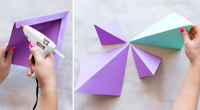 DIY: Geometric Paper Backdrop