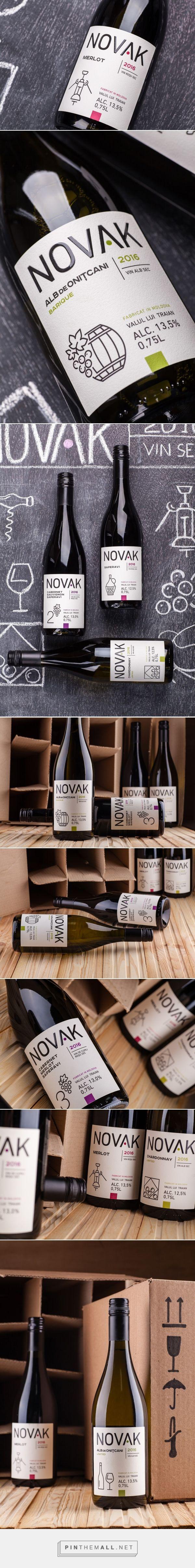 Novak Wine -  Packaging of the World - Creative Package Design Gallery - http://www.packagingoftheworld.com/2017/10/novak.html