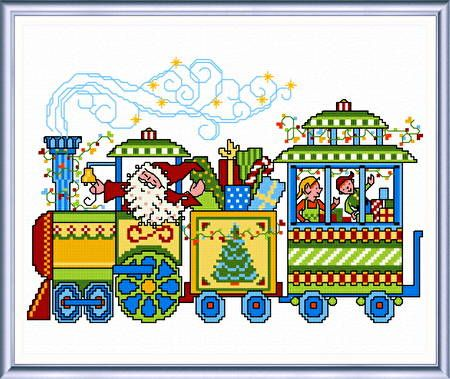 Holiday Delivery - cross stitch pattern designed by Ursula Michael. Category: Christmas.