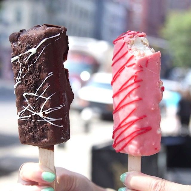 376 best popsicles n icecream images on pinterest ice cream at they sandwich ice cream between homemade rice krispies treats and dip em in chocolate to make these frozen beauties ccuart Image collections
