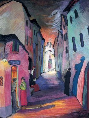 marianne von werefkin | Ave Maria , anno 1927, Fondazione Comunale, d'Arte Moderna, Ascona.