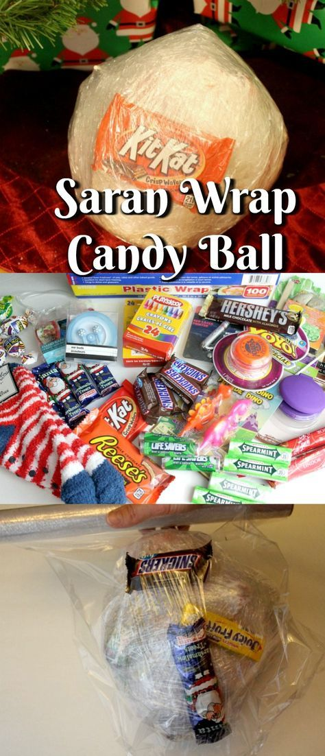 Have You Heard Of The Saran Wrap Candy Ball Game? This game is so much fun to play at Christmas Parties or any other party. Kids Love This Game and So do Adults.