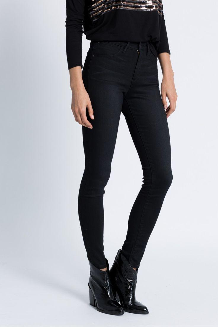 Jeans Jeans  - Wrangler - Jeansi High Skinny Real Black Baza
