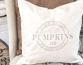 Pumpkin pillow Cover - Fall Pillow - Autumn Pillow - Farmhouse Pumpkin Pillow Cover - Pumpkins for Sale Pillow