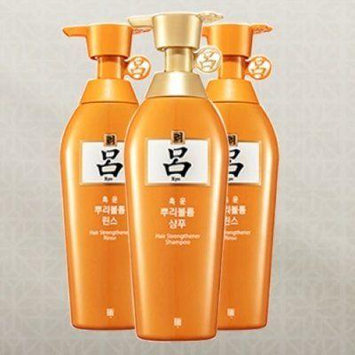 """Корейская лечебная """"Оранжевая линия"""" содержит природные экстракты брожения соевых бобов и корня красного женьшеня (шампунь + фито-ополаскиватель) от  Amore Pacific Ryoe RYOE Heukun Roots Volume предназначена для тонких, пористых волос лишенных объема, склонных к ломкости и выпадению.  Шампунь RYOE Heukun Roots Volume Shampoo имеет мягкую моющую формулу, тщательно очищает волосы, отлично подходит для всех типов волос.  Разглаживает чешуйки кутикулы и утолщает волосы за счет заполнения…"""