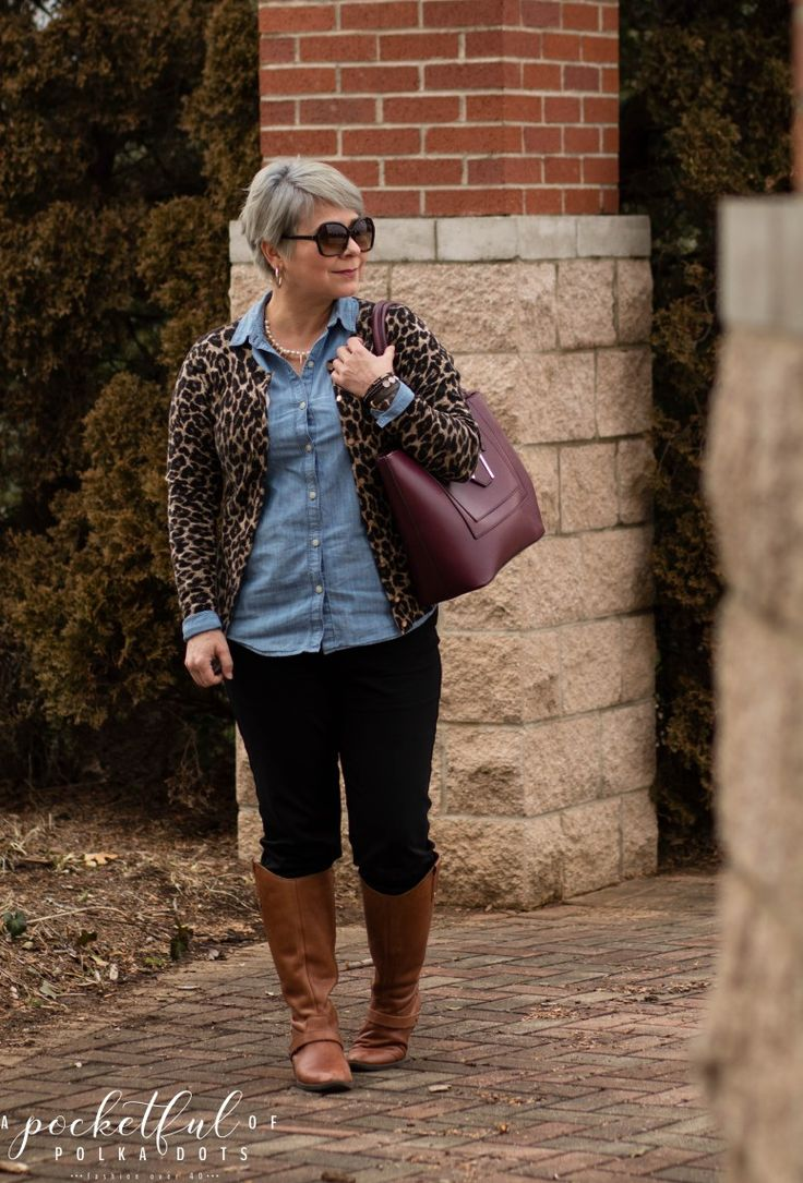 Chambray, Leopard & Pearls