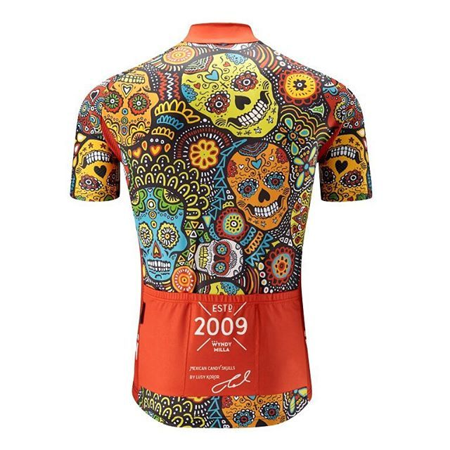 We now have full new stock of our award winning 'sell out' Mexican Candy Skull jerseys by @lusy.ink . Available in store & online in Classic, Aero & Women's cuts. #bicyclesavilerow #wtfkits #candyskulls