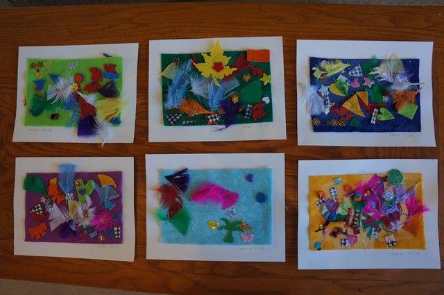 preschool collage felt collages motor sensory preschool 960