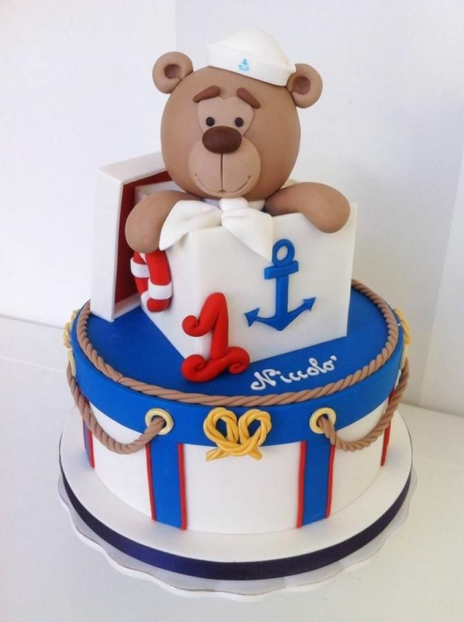 Teddy in the box - Navy style