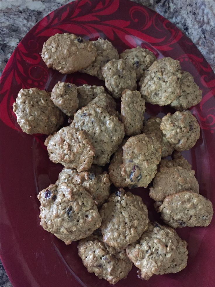 Cranberries and oatmeal cookies!