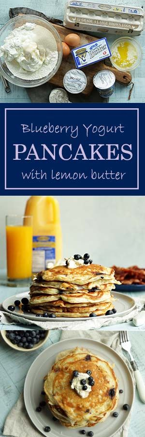Our Blueberry Yogurt Pancakes with a lemony butter twist are fluffy ...