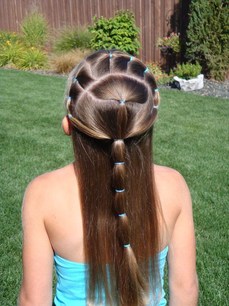 Fun girl hair