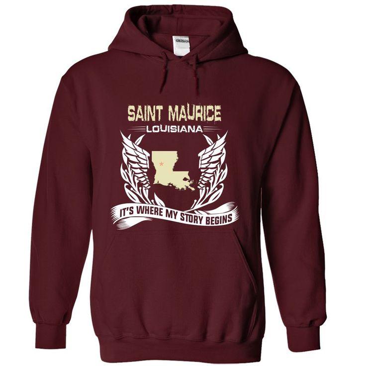 Saint Maurice-LAN02 Cool MAURICE Name T Shirt ⓛⓞⓥⓔ
