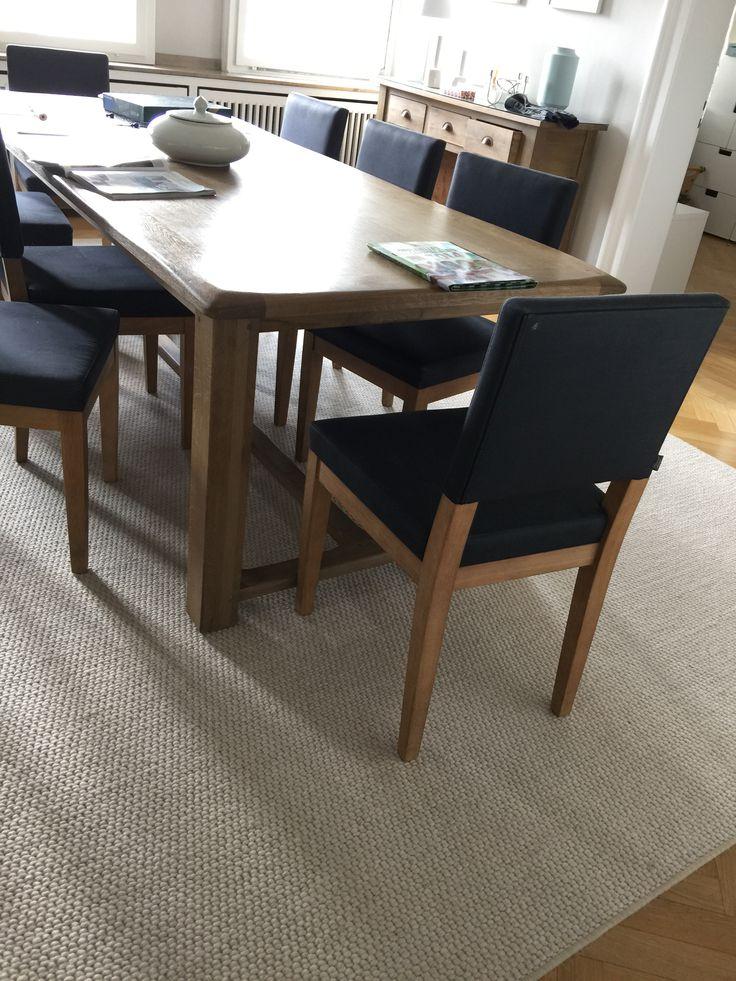 """Stühle zum Tisch (""""Michou"""" auch flamant) - kann ich leider eigentlich nicht mehr sehen...kann man die vielleicht durch irgendwas aufwerten, Bezug (Svenskt Teen? Josef Frank)?"""