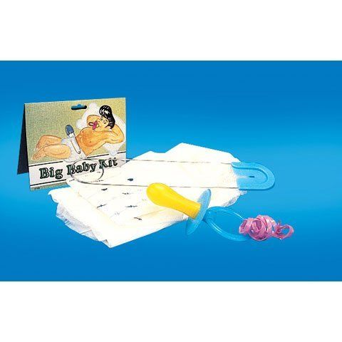 this big baby kit contains an adult sized diaper a large pacifier and a huge safety pin this kit is great for halloween costume parties and more - Diaper Costume Halloween