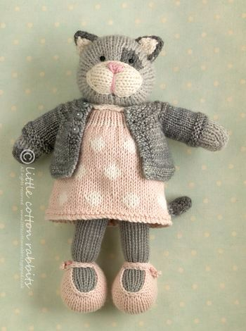 Cat in a cardi. Awesome cuteness by Little Cotton Rabbits