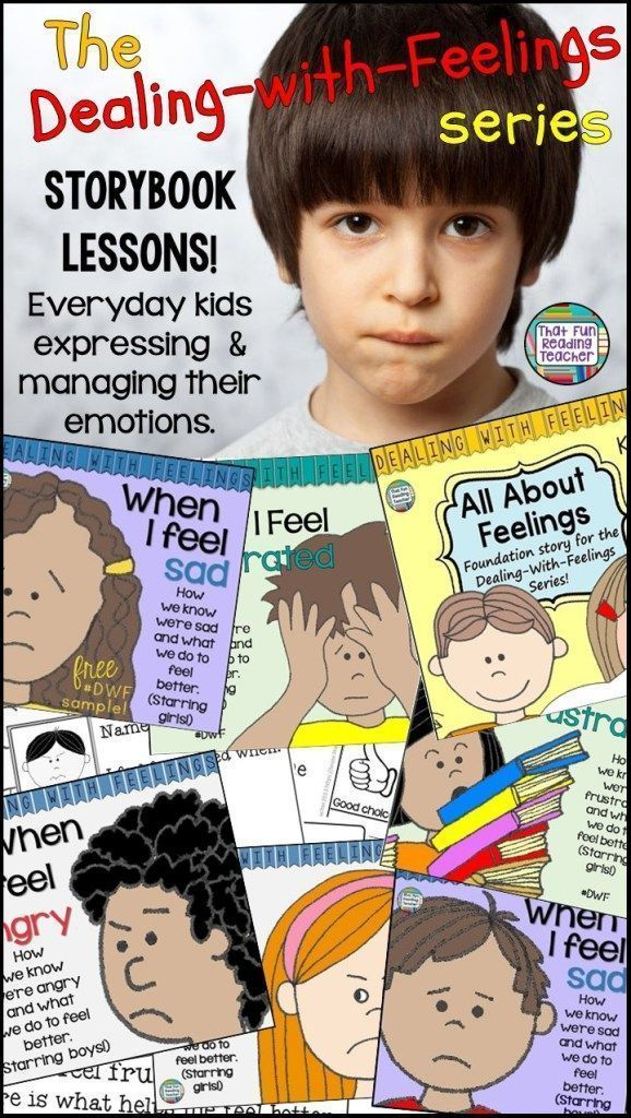 Teaching kids about feelings? These color and line art printable children's books feature relatable characters identifiying, expressing and managing emotions by making good choices. Ideal for social skill groups, calming corners and providing models of positive self-regulation. #dealingwithfeelings #feelings #stories #printable #selfregulation #emotionalregulation #socialskills #calmingcorner #socialgroup  #specialeducation #boys #girls #kids #emotions #teaching #storybooklessons #DWF