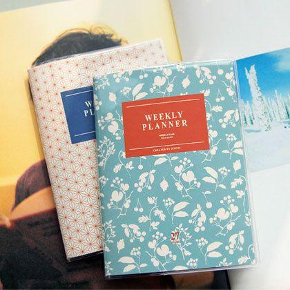 Iconic Simple and Slim weekly planner A6 size - fallindesign.com