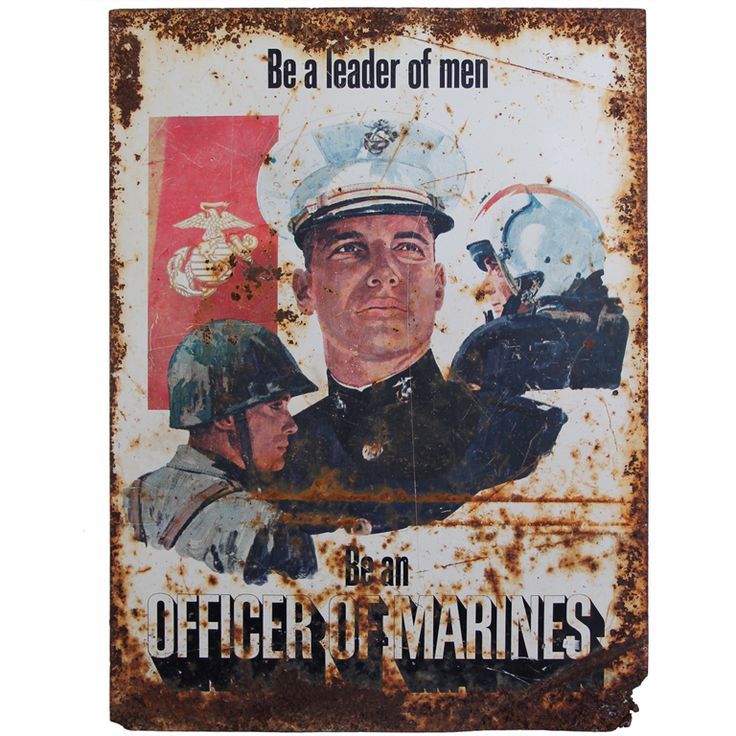 1stdibs.com | 1970's MARINE Recruitment Sign